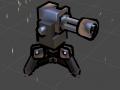 Sentry gun modeled and animated