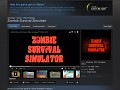 Zombie Survival Simulator on Steam Greenlight