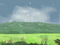 Simulating dynamic weather effects (rain)