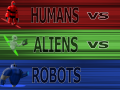 Humans vs Aliens vs Robots: War Introduction
