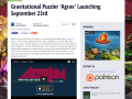 AGRAV coming September 23, featured on TouchArcade