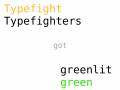 Typefighters got greenlit on Steam