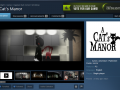 A Cat's Manor Live on Steam Green Light