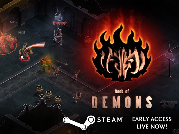 Book of Demons launches on Steam Early Access!