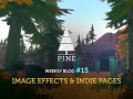 Pine DevBlog #15 - Image-effects and Indie-pages