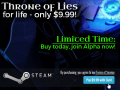 Throne of Lies Alpha+ Keys Only $9.99 for Life! Play today!