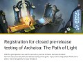 Closed pre-release testing of Archaica