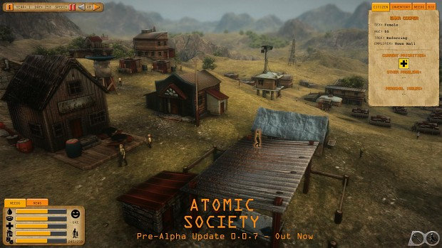 Atomic Society: Pre-Alpha Update 0.0.7 Released + New Dev Blog