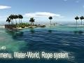 Devlog #3 - Main menu, Water-World, Rope system ...