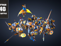 "Android puzzle ""Horde Attack: 2048 Medieval Battle"""