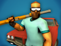 Dangerous hero with shotgun