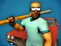 Dangerous hero with shotgun