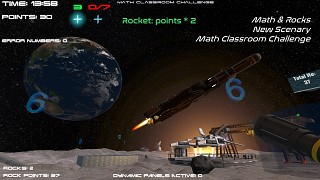 Math & Rocks, the new Moon Scenery for Math Classroom Challenge