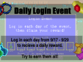 Daily Login Event