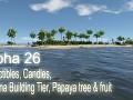 Alpha 26 - Collectibles, Candles, Banana Building Tier, Papaya tree & fruit
