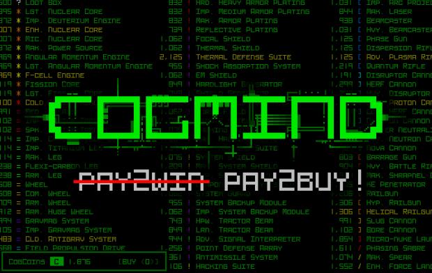"""Cogmind goes P̶a̶y̶2̶W̶i̶n̶ """"Pay2Buy"""""""