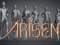 The main characters of ARISEN, step by step