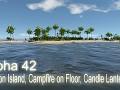 Alpha 42 - Lagoon Island, Campfire on Floor, Candle Lantern
