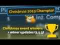 Christmas Event winners and minor updates