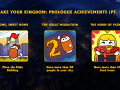 The first part of the achievements!