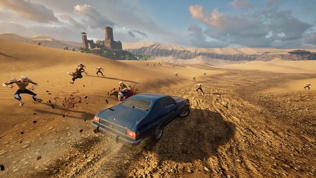 New desert environment for Zombie Road Rider