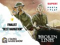 Broken Lines is a finalist in the Taipei Game Show 2021 Indie Game Award for Best Narration!