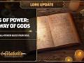 Lore Update #8 - Ways of Power: The Way of Gods