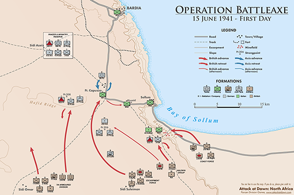 Maps of the Operation Battleaxe