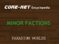 PARADIGM WORLDS: Minor Factions - Encyclopedia