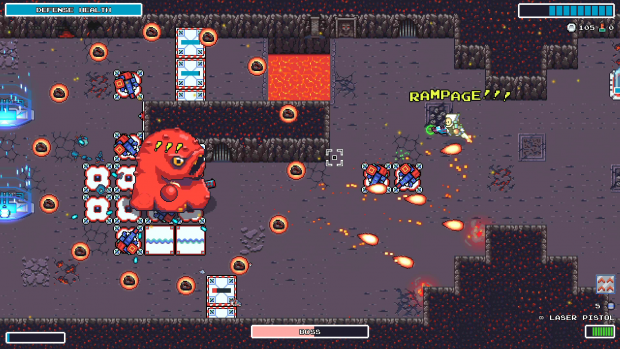 RAMPAGE Mode in Rogue Star Rescue! A bullet-hell shooter on steroids.