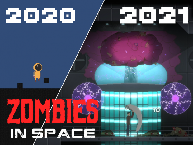 1 YEAR of Game Development in 10 Minutes! - Zombies in Space