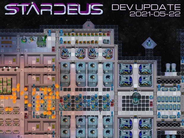 Stardeus Dev Update 2021-05-22: Face Huggers, Turrets, Dirt System, Planning, and more