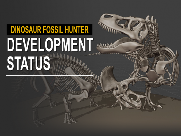 Dinosaur Fossil Hunter: Improved skeleton models, field trip and upcoming Prologue update!