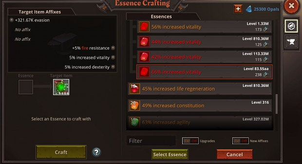 Auto-repeat, Advanced Loot Filter and new crafting interface!