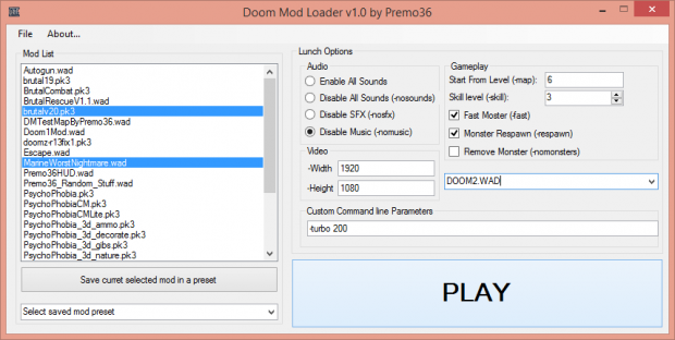 Doom Mod Loader