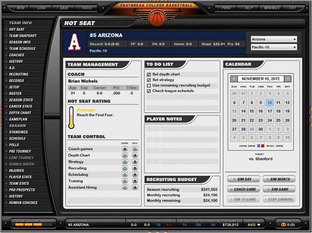 Fast Break College Basketball Full Version