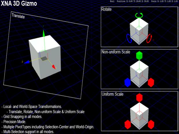 XNA 3D Gizmo