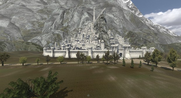 Minas Tirith White Wall Addon