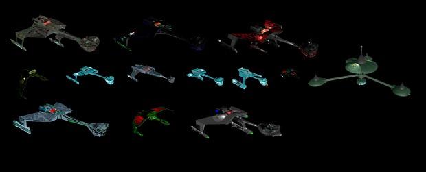 Polaris Sector Star Trek TOS Klingon ships