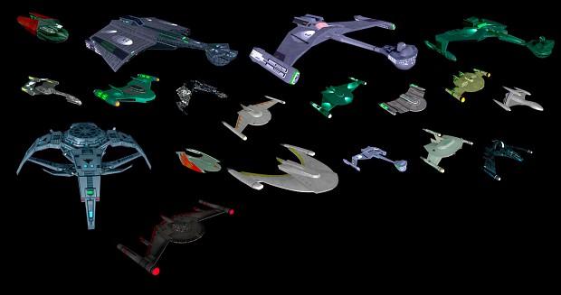 Polaris Sector Star Trek TOS Romulan ships