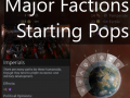 Major Factions Starting Populations