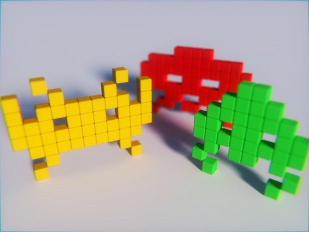 Space Invaders Game with Blender (Resource File)
