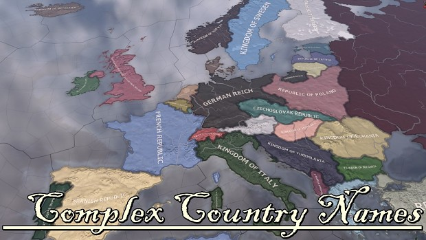 Complex Country Names [ Ironman Compatible ]