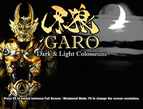 GARO - Dark & Light Colosseum Full v1.01