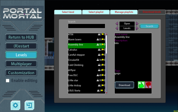 Portal Mortal - Beta 0.5.0 (Windows only)