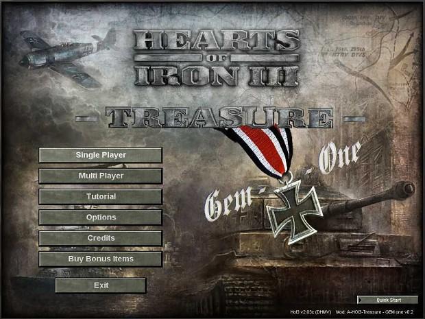 A HOI 3 Treasure - GEM One 0.3a