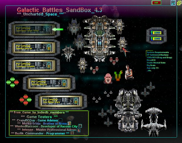 Galactic Battles Sandbox 4.3 - Uncharted Space