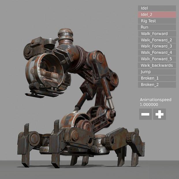 Mech Neck Walker - Blender Game Engine And Unity 3D