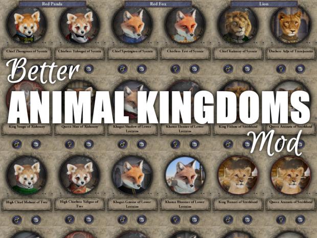 Better Animal Kingdoms Mod 1.0