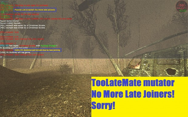 No More Late Joiners - TooLateMate